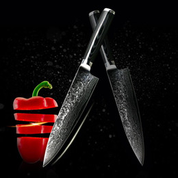 Wholesale Damascus Steel Kitchen - D062 FINDKING new VG10 handle damascus knife 8 inch chef knife 71 layers damascus steel kitchen knives cooking tools