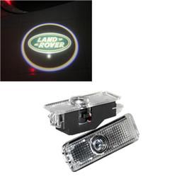Wholesale Freelander Range Rover - LED car door welcome projector logo laser ghost shadow light for Land Rover Range Rover Evoque Discovery 4 Freelander 2