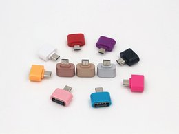 Wholesale Micro Pc Android - Android Colorful Mini OTG Cable USB OTG Adapter Micro USB to USB Converter for Tablet PC Android Samsung Xiaomi Huawei HTC SONY LG