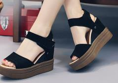 flat head fish Promo Codes - 2017 the Fashion Women Sandals Fish Head Summer Shoes Women Sandals With Platform Sandals Wedges High Heel Female Shoes Women Shoes