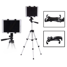 Wholesale Foldable Camera Tripod - Wholesale- 360 Foldable Aluminium Ball Head Tablet Tripod Holder Stand Clip Clamp For iPad New Tablet Stand Holder For Kindle Camera DV