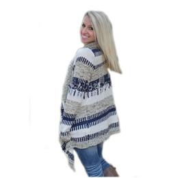 Wholesale Grey Knit Cardigan Women - Wholesale- VVTS 2016 Women Grey Casual Patchwork Loose Irregular Cardigan Spring Autumn Women Long-sleeve Warm Sweaters Women Clothing