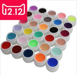2019 colorido uv unha gel Atacado-Pure Color Gel uv Nail Art Tips Shiny Cover Extensão Manicure gel ferramentas, 30colors / 12colors / 24colors uv gel kit colorido uv unha gel barato