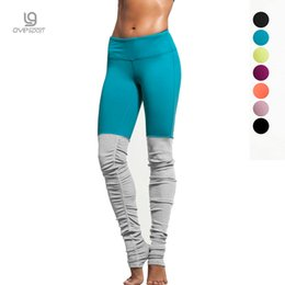 Wholesale Ribbed Leggings - Wholesale- 6 colors Women Sporting Fitness Elastic Rib Patchwork Pants Hign Elastic women Leggings Push Up Sexy S M L XL 4sizes