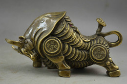 Wholesale Ox Brass - Elaborate Chinese Old Copper Whole Body Wealth Lifelike Ox Auspicious Statue