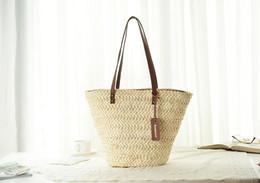 Wholesale Knitting Bag Shop - 2017 Women's Bag Beach Woven Bags For Summer Womens Designer Shoulder Bag Ladies Knitting Women straw bag Shopping Handbags