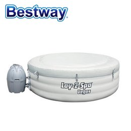 "Wholesale Family Swimming Pools - Wholesale- 54112 BestWay 77""x24"" 196x61cm Round thickened inflatable swimming pool for Family BestWay Lay-Z-Spa Vegas Pool"