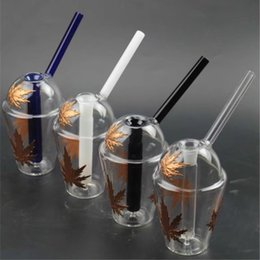 Wholesale Mini Glass Cups - New Cup Mini Glass Bong Smoking Pipes Glass Water Pipe Hookah Glass Cups 14.5mm Dab Rigs And Dome Oil Rig Bubbler