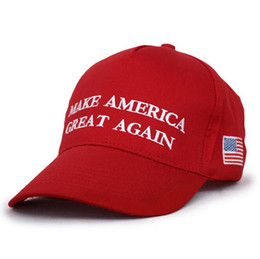 Wholesale Womens Wholesale Fashion America - 120Pcs Make America Great Again Hat Donald Trump Republican Snapback Sports Hats Baseball Caps USA Flag Mens Womens Fashion Cap F765