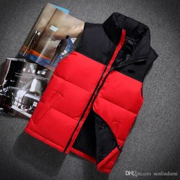 Wholesale North Winter - Top Quality Winter men north Down vest Camping Windproof Ski Warm Down Coat Outdoor Casual Hooded Sportswea vest 606