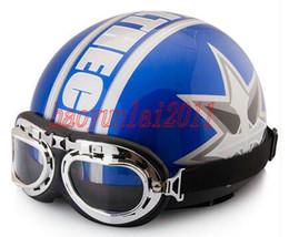 Wholesale Top Half Helmets - Fashion new Motorcycle Helmets ABS portable-type half helmet summer winter helmet Four Seasons General blue helmet top sale free shipping-1