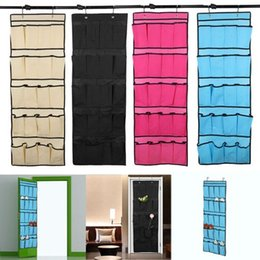 Wholesale Top selling Pocket Non woven Fabric Over the Door Shoe Organizer Space Saver Rack Hanging Storage Hanger