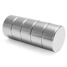 Круговые магниты онлайн-5pcs 20mm Dia x 10mm круговой диск N52 неодимовый сильнейший магнит