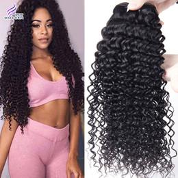 Wholesale Deep Curly Bundle Hair - Brazilian Remy Human Hair Weave 4 Bundles Brazilian Virgin Human Hair Bundles Deep Wave Kinky Curly Virgin Human Hair Extensions