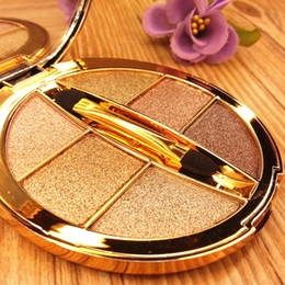 Wholesale Make Up Brushes Mirror - Professional 6 colors Diamond Bright Colorful Makeup Eyeshadow Super Make Up Set Glitter Eye shadow Palette With Brush&Mirror