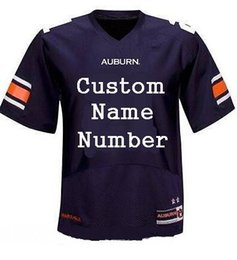 Wholesale Rugby Jersey Navy - 2017 Men's Custom Auburn Tigers College football jerseys Navy Blue White Stitched Personalized Rugby Jerseys Customized S-XXXL