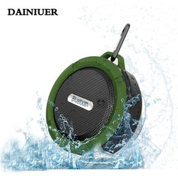 water resistant bluetooth shower speaker Coupons - Wholesale- DAINIUER C6 Mini Bluetooth Water Resistant Shower Speaker with Sucker Support Hands-free Calls For Laptop Smartphone MP3