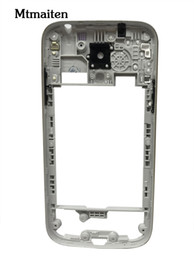 Wholesale Galaxy Power Button - Middle Plate Frame Bezel housing with volume and Power button for Samsung Galaxy S4 mini I9190 I9192 I9195 Free shipping