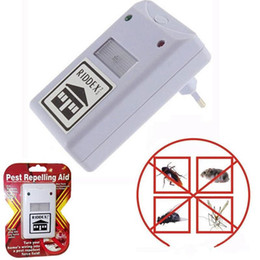 Wholesale Electronic Repeller Insects - NEW RIDDEX electronic pest repeller pest repelling aid ultrasonic   electromagnetic Anti Mosquito Mouse Insect Cockroach Control LLFA