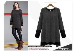 Wholesale Kint Cap - 2017 spring t shirt women plus size kint cotton long sleeve round collar