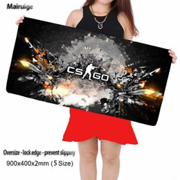 Wholesale Rubber Edges - CSGO Mouse Mat 900 * 400 Mm Large Gun Shooting Speed Locks The Keyboard Pad Rubber Edge Game Mouse Pad Mat