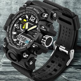Wholesale Luxury G Shock - Mens Watches 2017 SANDA Fashion Watch Men G Style Waterproof Sports Military Watches Shock Luxury Analog Digital Sports Watches