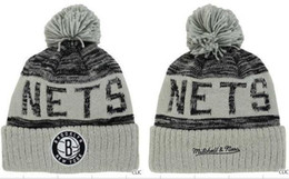 Wholesale net beanies - BROOKLYN NETS Beanies Team Hat Winter Caps Popular Beanie Caps Skull Caps Best Quality Sports Cap Allow Mix Order