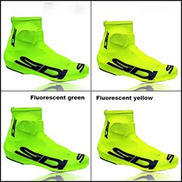 Wholesale Hook Locking - 2017 Fluorescent yellow SIDI Lock shoes cover Bicycle Cycling Overshoes Pro Road Racing MTB Bike Cycling Shoes Cover Sports Shoes Cover