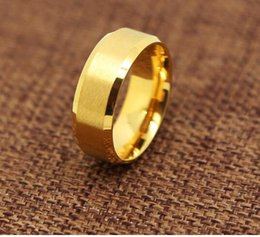 Wholesale Stainless Steel Ring Plain - wedding ring lover Stainless Steel 24K Yellow-Gold-Plated 9mm Plain Men's and Women's Wedding Band Ring Engagement US Size 5-14