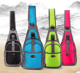 Wholesale Slings Bags - Cool Vintage Travel Hiking Climbing Back Pack Cross Body Outdoors Sports bags Triangle Sling Chest Bag 10 pcs free shipping