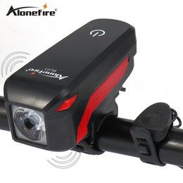 Wholesale Head Lighting Led - AloneFire Bike Light Head LED Flashlight With Bell Luces Cycle Lamp Outdoor MTB Road Cycling Headlight Speaker Bicycle Led Light