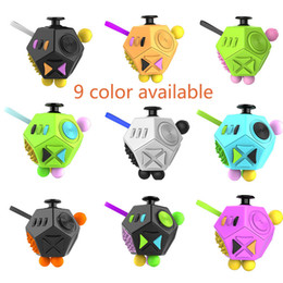 Wholesale Toys For Boys Adults - Fidget Cube 2 Toy Stress Relief 12-side Dice For Adult Girls Boys Gift Magic Anti Irritability Depression Desk Dice