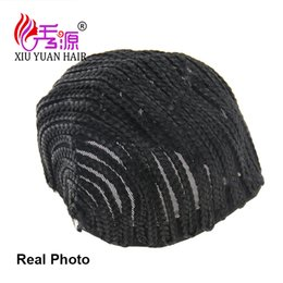 Wholesale Synthetic Weaving Wigs - 2Xiuyuan Synthetic Cornrow Wig Caps For Making Wigs Crotchet Braid Cap For Weave Crotchet Braiding Wig For Female Curly Hair