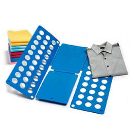 shirts folder Coupons - Flip Folding Board T-Shirts Magic Laundry Organizer Child Adult Clothes Folder Folding Board Random Color OOA3169