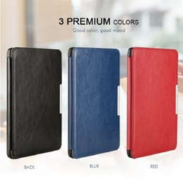 Wholesale Tablet Magnetic Book Case - 2017 New Flip Book Style Best Quality Smart Magnetic Leather Cover Tablet Case With Strap for New Kindle X558