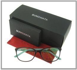 Wholesale Metal Frame Myopia Glasses - Fashion Metal Decoration Eyewear Brand Designer Women Luxury Glasses Frame Myopia Eyeglasses Frame Clear Lens 6126