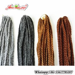 Wholesale Synthetic Hair Extentions - 24inch Synthetic Box braiding Hair with black blond and burgundy Long hair Extentions 3S Crochet Braid Hairpieces