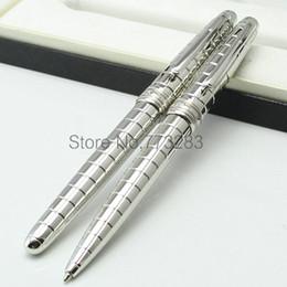 Penna di lusso MB Exquisite superficie texture penna a sfera roller forniture stazionarie penna a sfera in metallo con numero di serie da