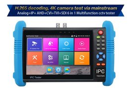 Wholesale Ip Resolution - IPC-9800plus 7 inch IPS touch screen 1280*800 resolution Analog+IP+AHD+CVI+TVI+SDI 6 in 1 Multifunction cctv tester ann