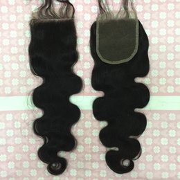 Wholesale Machining Parts Products - Brazilian virgin Unprocessed hair three part middle part free part Straight Bleached Knots Best quality lace closure Products lace closure