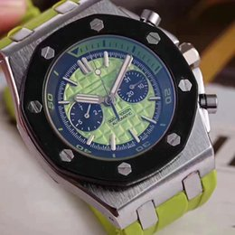 Wholesale White Mens Skeleton Watches - Mens Watch White Dial Transparent Back Original Clasp Royal Oak Offshore Automatic Movement Mechanical Men green skeleton skull watches