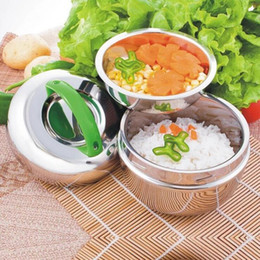 Wholesale Rice Boxes - Stainless steel Bowl Student Apple Shaped 1000ML Lunch Box Insulation Lunch Box Non-magnetic Stainless Steel Rice Bowl 48pcs OOA2383