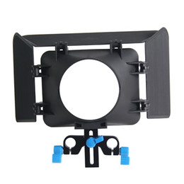 Wholesale Dslr Base Plate - Lightweight 15 mmm Rail Rod Base Plate DSLR Rig Matte Box For Cameras and Camcoders