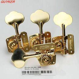 Wholesale Gold Tuning Peg - 1set Open Frame Bass Tuner Machine Head Tuning Pegs Keys Gold WJBL-200
