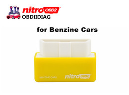 Wholesale Plugs Box - High Quality Plug and Drive NitroOBD2 Performance Chip Tuning Box for Benzine Cars Nitro OBD2 Chip Tuning Box