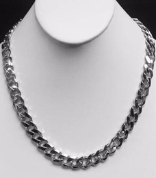 "Wholesale Party Gram - 14kt solid White gold HEAVY handmade Curb Link mens Necklace 18"". 115 Grams"