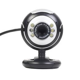 Wholesale Web Camera Usb - USB 6 LED 12.0 Megapixel USB PC Webcam Web Camera + Night Vision + Mic   Microphone For MSN, ICQ, AIM, Skype