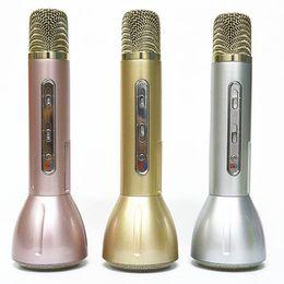 Wholesale Best Karaoke Microphone - Dropship K138 New magic karaoke Wireless Microphones speaker ktv k songs bluetooth microphone Best Quality offer