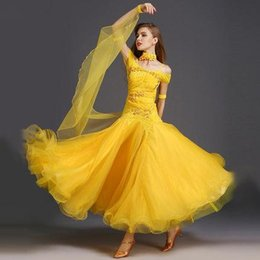 Wholesale Tango Dresses For Dance - Women Dance Dress Standard Ballroom Competition Dresses Costumes For Women Big Swing Tango Waltz Dancewear 2017 Modern Dance Dress FN154