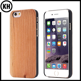 Wholesale Genuine Wooden Iphone Case - Natural Genuine Bamboo Wood PC Cellphone Housing Case Shell For iPhone6 7 iPhone6 Plus 7 Plus Fashion Solid Cherry Wooden Protection Cover